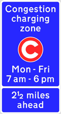 London Congestion Charge - Time, Sign