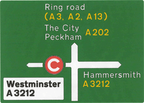 London Congestion Charge - Direction Sign - Westminster, Peckham