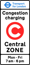 London Congestion Charging Zone Sign